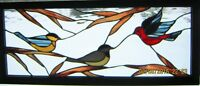 Stained Glass Chickadee panel