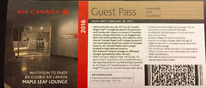 Air Canada Maple Leaf Lounge Passes