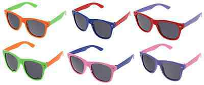 Super Cool Multi Color Neon Color Sunglasses 80'S pool luau party favors Kid New - Kids Sunglasses Party Favors