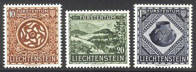 LIECHTENSTEIN #274-76 Mint NH - 1953 Museum Set ($65)