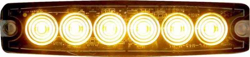 Buyers Products 8892200 Amber 6 LED Strobe Light (5-1/8in)