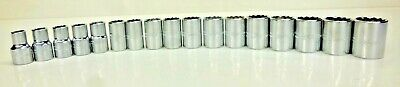 New Proto Metric Sockets 12 Dr 12 Pt Lot Of 17 10mm-26mm