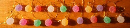 18 Mini Acrylic Christmas Candy Sparkle Sugar Gumdrop Ornaments Candies Decor