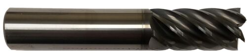 """1/2"""" 6 FLUTE CARBIDE END MILL -SQUARE END - AlCrN COATED"""