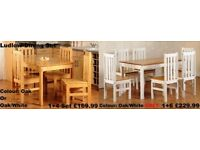 BRAND NEW DINING SETSTABLE CHAIRS FAST DELIVERY DONCASTER