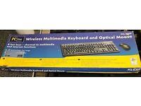Wireless multimedia keyboard & mouse £4