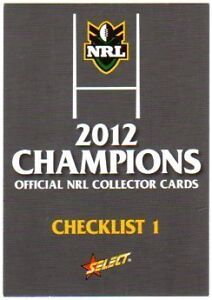 2012 NRL Champions Complete Full Base Set 196 Cards
