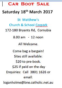 Carboot sale! Charity Fundraiser! Cornubia Logan Area Preview