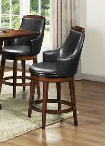 "24"" counter swivel stools with burnished walnut finish, NEW!!!"