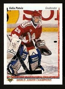 FELIX POTVIN .... ONLY ROOKIE CARD .... 1990-91 Upper Deck High
