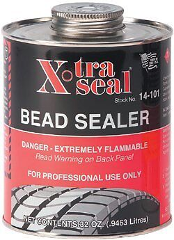 5-DAY SALE! XTRA SEAL Tire Bead Sealer 32 oz Black w/Brush Top Can PRO Quart