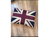 Vintage jack wills look Union Jack uk gb throw pillow for sofa etc