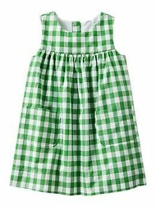 NWT Baby Gap Green Gingham Dress 0-3 months