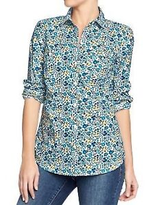 Old Navy Women's Printed-Poplin Shirt Size Small New with tags London Ontario image 1
