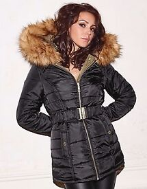 LIPSY LOVE MICHELLE KEEGAN REVERSIBLE PUFFER COAT