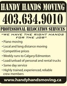 Lethbridge Based Piano & Furniture Moving / Rates start @ $50HR