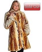 Faux Fur Lynx Coat