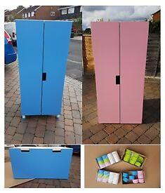 Ikea Stuva Pink and Blue children's bedroom furniture