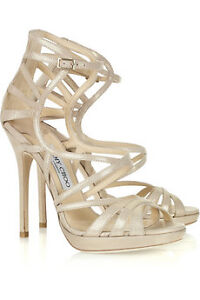 Jimmy-Choo-Ontario-metallic-suede-multi-strap-sandals-Size-38-8