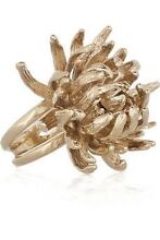 Authentic Alexander McQueen chrysanthemum ring Melbourne CBD Melbourne City Preview