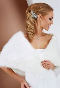Fur cape, ivory, NEW in bag, high quality