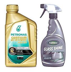 Car Oil (5W-30) and Glass Shine Accessories