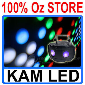 KAM Dual Lens LED Rotating Moonflower Light RGB Power DJ Party Stage Disco LED