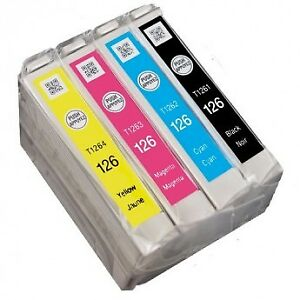 9 Epson T126 ink cartridges / cartouches d'encre
