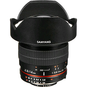 Samyang 14mm f2.8 IF ED UMC with Focus Confirm Chip (Nikon)