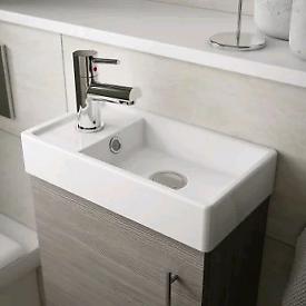 Minimalist compact basin 222mm x 405mm. New & unused.