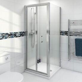 Bi-Fold Shower Door (brand new in box)