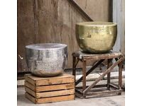 BRAND NEW Hammered Gold, Silver Or Antique Gold Coffee Table