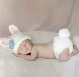 Cute knitted baby photo props