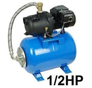 NEW OB EVERBILT 1/2HP WELL JET PUMP Shallow Well Jet Pump with 6 gal. Tank - PLUMBING PUMP 103066082
