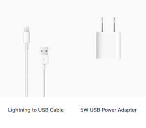 Brand new genuine Apple 5W USB Power Adapter and Cable