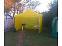 Strong folding gazebo 3' x 3' with 3 waterproof sides used for market stall or just general use