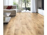 NEW BOXED Brown Hickory Effect Laminate Flooring 2m² Pack {6 m2 avliable}
