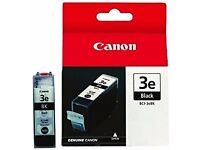 Two Canon BCI-3e Black Ink Cartridges 27ml