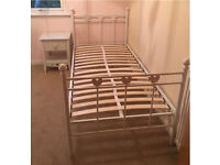 """Stunning Next """"Lucy"""" Girls Bed and Matching Bedside Table"""