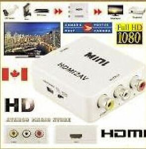 Mini HDMI to RCA converter and UpScaler