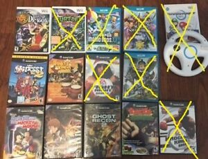 for sale wii/gamecube games