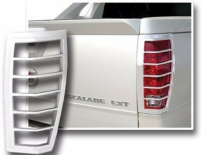 FITS CADILLAC ESCALADE EXT 2002-2006 CHROME ABS TAIL LIGHT BEZELS TRIM 2PCS ()