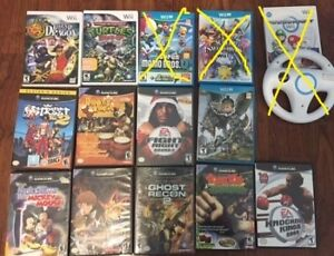 selling gamecube, wii and wii u games