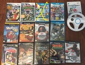 selling some wii and gamecube and wii u games