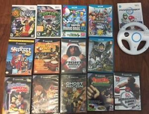 selling some wii and wii u/gamecube games