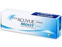 1 Day Acuvue moist contact lenses - two boxes