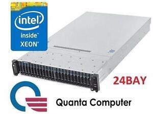 NEW QUANTA INTEL XEON SERVER   Quanta 2U 24 Bays Dual Processor Server COMPUTER PC SYSTEM COMPONENT 99672234