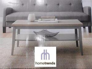 NEW* HOMETRENDS COFFEE TABLE  40 IN. W X 20 IN. D X 18 IN. H, GREY/RUSTIC WOOD HOME FURNITURE LIVING ROOM 91706994
