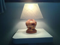 Table Lamp - Solid Wood Base (50s -60s).