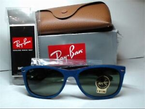 "NEW Ray-Ban RB2132 6239 58"" Wayfarer Blue Frame Sunglasses"